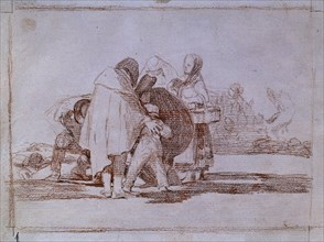 Goya, Désastres de la guerre 53 - Il expira sans remède
