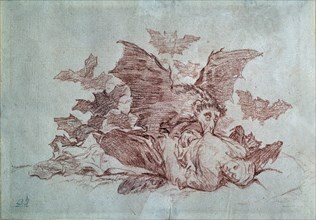 Goya, Dessin préparatoire pour Désastres de la guerre 72