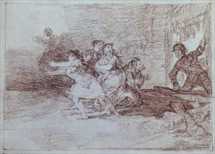 Goya, Les femmes fuient le Français