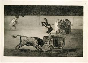 Goya, Tauromachie 19 - Une autre folie de lui dans la même arène