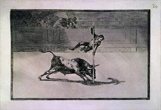 Goya, Tauromachie 20- L'Agilité et l'Hardiesse de Juanito Apiñani à Madrid