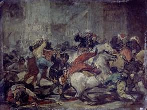 Goya, Le deux de mai à la Puerta del Sol 1808