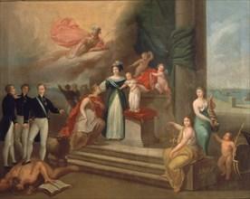 Ribelles, Allégorie de l'Espagne avec la Reine Marie-Christine et Isabelle II
