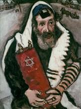 Chagall, Le rabbin aux rouleaux
