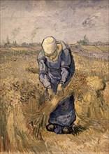 Van Gogh, Femme liant des bottes