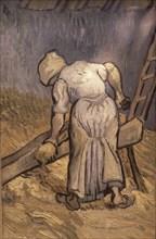 Van Gogh, Paysanne coupant de la paille