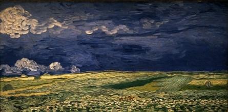 Van Gogh, Champ de blé sous un ciel d'orage