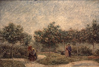 Van Gogh, Couple dans le Parc de d'Argenson de Voyer à Asnières