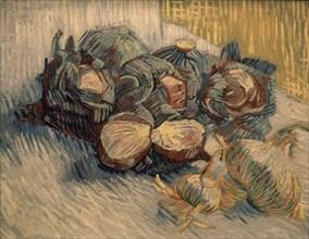 Van Gogh, Nature morte aux oignons et choux rouges