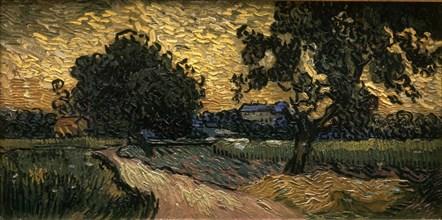 Van Gogh, Le Château d'Auvers au Coucher du soleil