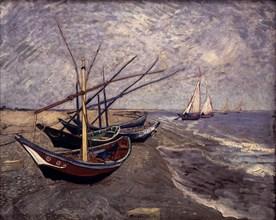 Van Gogh, Les Barques à voile aux Saintes-Maries