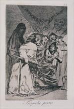 Goya, Caprice 58: Avale ça, chien