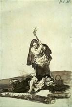 Goya, Femme assassinant un homme endormi