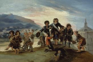 Goya, Jeux d'enfants- Soldats français