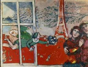 Chagall, Les mariés de la Tour Eiffel