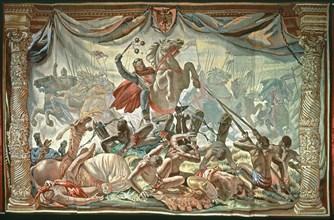 Sanche VII de Navarre brisant les chaînes qui le retenaient prisonnier
