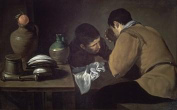 Vélasquez, Deux hommes à table