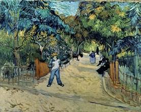 Van Gogh, L'entrée du jardin public à Arles