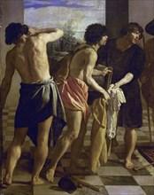 Vélasquez, La tunique de Joseph (détail frères de Joseph avec la tunique)