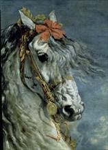 Vélasquez, Portrait équestre de Philippe III d'Espagne (détail)
