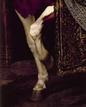 Vélasquez, Portrait équestre de la reine Marguerite d'Autriche (détail)