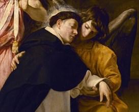Vélasquez, Saint Thomas d'Aquin en extase (détail saint et ange)