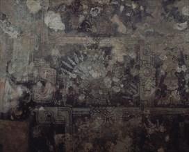 Temple aux fresques (temple funéraire) Frise comportant le Dieu Descendant
