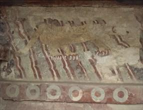 Avenue des Morts Peinture murale d'un jaguar