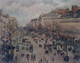 Pissarro, Boulevard Montmartre à Paris
