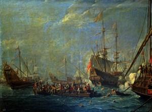 Van Eyck, Bataille navale entre Turcs et Maltais en 1565