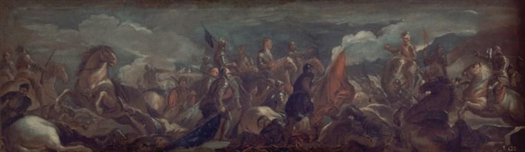 Giordano, Imprisonnement du connétable de Montmorency dans la Bataille de Saint-Quentin