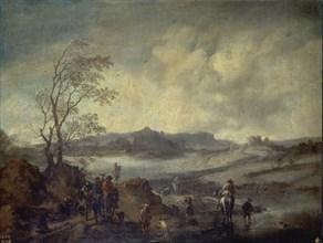 Wouwerman, Le Départ pour la chasse au faucon