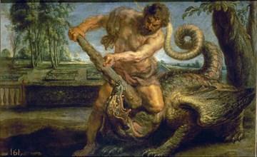 Rubens (et atelier), Hercule tuant le dragon du jardin des Hespérides