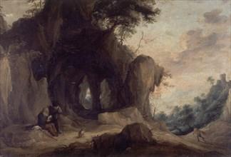 Teniers (le jeune), Paysage avec ermite