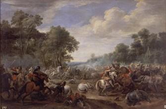 Meulener, Combat de cavalerie