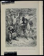 Doré, Don Quichotte défendant la femme battue par son mari