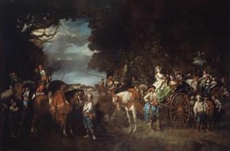 Lucas Velázquez, Jeunes femmes et picadors andalous