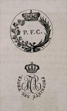 Ex-libris d'un ouvrage appartenant à Charles de Bourbon