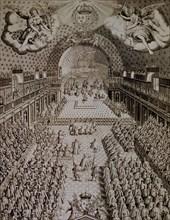 Assemblée de l'Etat français de 1614, dans la salle des Bourbons