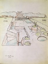 Le Corbusier, Dessin de l'ensemble architectural de Chandigarh