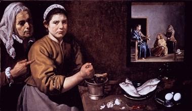 Vélasquez, Le Christ dans la maison de Marthe et Marie