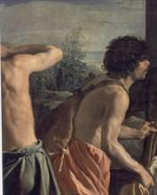 Vélasquez, La tunique de Joseph (détail des frères de Joseph)