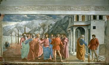Masaccio, Le Paiement du tribut