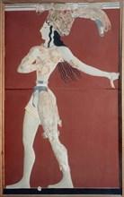 Fresque représentant Le Pprince aux fleurs de lys