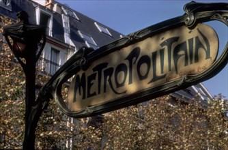 Plaque de métro parisien