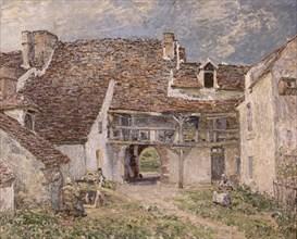 Sisley, Cour de ferme à Saint-Mammès