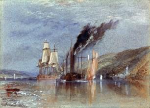 Turner, Entre Quillebeuf et Villequier