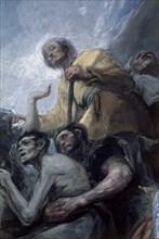 Goya, Le Miracle de Saint Antoine de Padoue (détail)