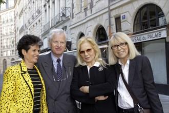 Valérie-Anne Giscard d'Estaing, Bernard Fixot, Sylvie Vartan et Mireille Darc, juin 2009