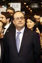 François Hollande au Salon du livre de Paris 2015
